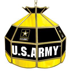 U.S. Army 16 inch Tiffany Style Lamp