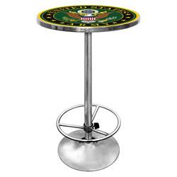 U.S. Army Symbol Chrome Pub Table