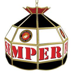 United States Marine Corps 16 inch Tiffany Style Lamp