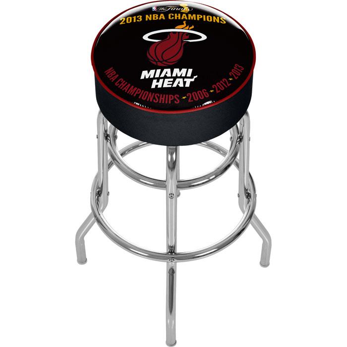 Miami Heat 2013 NBA Champions Padded Swivel Bar Stool