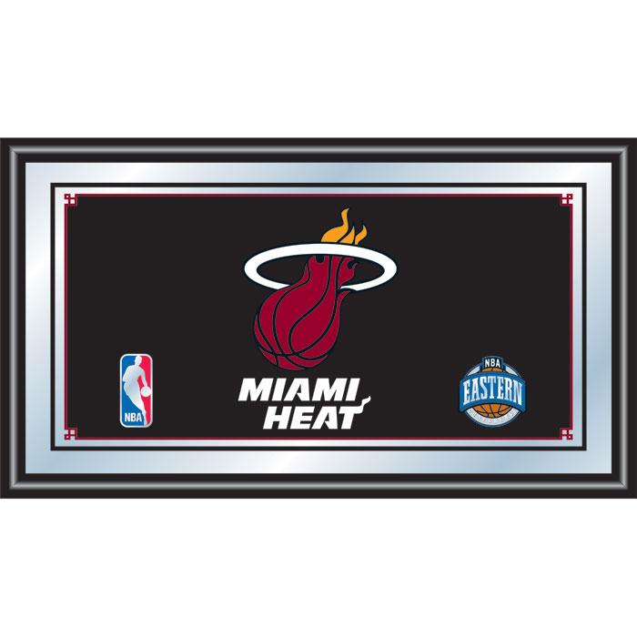 Miami Heat NBA Framed Logo Mirror