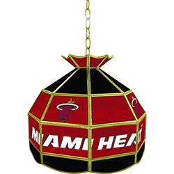 Miami Heat NBA 16 inch Tiffany Style Lamp
