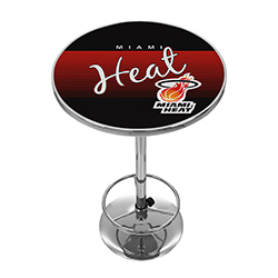 Miami Heat Hardwood Classics NBA Chrome Pub Table