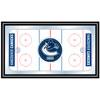 NHL Vancouver Canucks Framed Hockey Rink Mirror