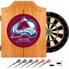 NHL Colorado Avalanche Dart Cabinet includes Darts and Board