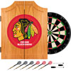 NHL Chicago Blackhawks Dart Cabinet includes Darts and Board
