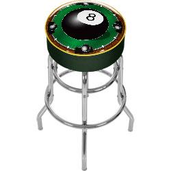 Rack'em 8-Ball Padded Bar Stool