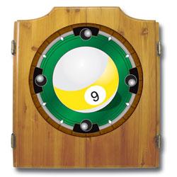 9-Ball Dart Cabinet includes Darts and Board
