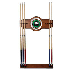 8-Ball Rack'em 2 piece Wood and Mirror Wall Cue Rack