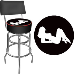 Shadow Babes - A Series - High Grade Padded Bar Stool w/Back