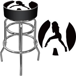 Shadow Babes - C Series - High Grade Padded Bar Stool