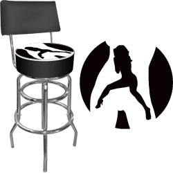 Shadow Babes - C Series - High Grade Padded Bar Stool w/Back