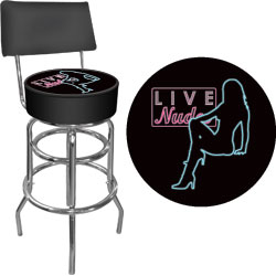 Shadow Babes - D Series - High Grade Padded Bar Stool w/Back