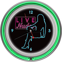 Shadow Babes - D Series - Clock w/ Two Neon Rings - Green