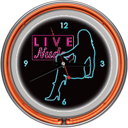 Shadow Babes - D Series - Clock w/ Two Neon Rings - Orange