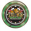 Texas Hold 'em Neon Clock - 14 inch Diameter