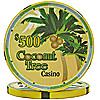 Ceramic Coconut Tree Poker Chips