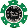 Casino Las Vegas Coin Inlay Poker Chips