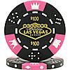 Fabulous Las Vegas Tri-Color Triple Crown Poker Chips