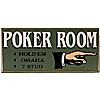 Classic All Wood Poker Room Sign