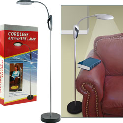 Trademark Home Portable Lamp Stand w/ LED Lights - Cordless