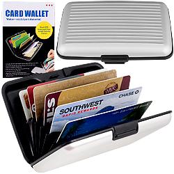 Aluminum Credit Card Wallet - RFID Blocking Case - Silver