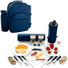 Toppers Casanova Cooler/Picnic Pack for Two w/Blanket Navy