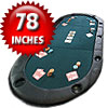 Texas Holdem Poker Folding Tabletop with Cupholders