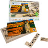 African Cheetah Wood Dominoes Game - $24.100